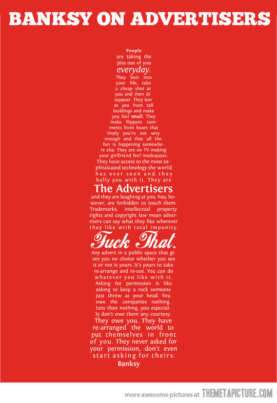 banksy on adverts
